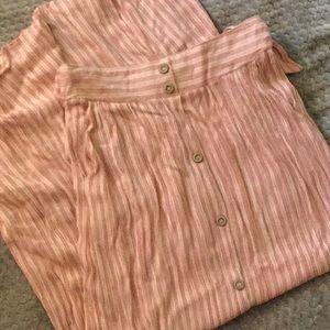 Long pink skirt